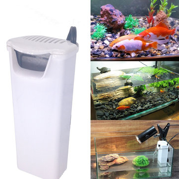 220V Aquarium Internal Filter Turtle Fish Tanks Water Pump Wall Suction Cup Standard Adaptor