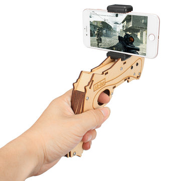 DIY Augmented Reality AR Toy with Cell Phone Stand Holder Protable Wood AR