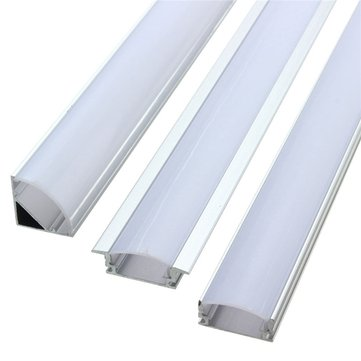 LUSTREON 50CM Aluminum Channel Holder For LED Strip Light Bar Under Cabinet Lamp
