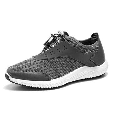 Мужчины Breathable Mesh Регулируемая кружевная спортивная обувь