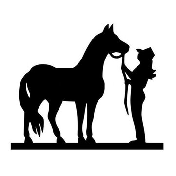 14x11.5cm Horse Pulling Reflective Car Stickers Auto Truck Vehicle Motorcycle Decal
