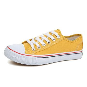 Мы размер 5-13 случайные зашнуровать красочные круглый носок спортивные холст обувь