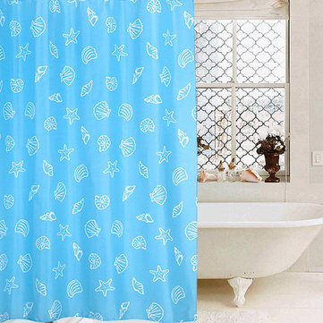 Thick Waterproof And Mildew Polyester Hotel Bathroom Shower Curtain To Send Hook