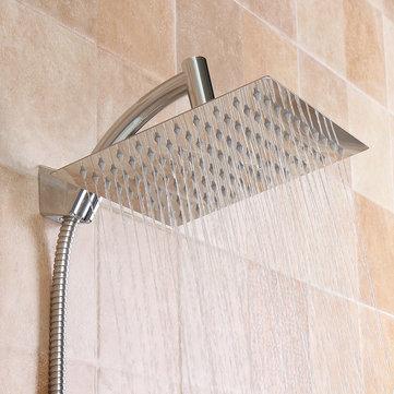 Extension de pommeau de douche carré pour pluie de 8 pouces avec kit de flexible de bras de douche