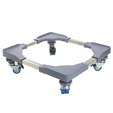 Adjustable Movable Base Laundry Pedestal Stand Bracket for Washing Machine Dryer Refrigerator