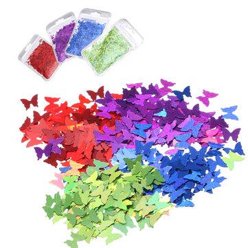 3D Tips Paillette Butterfly Designs Nail Glitters Shape Colors Polish Gel DIY Nail Art Decoration