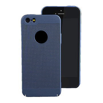 Mesh Heat Dissipation Anti Fingerprint Hard PC Case for iPhone 5/5S/SE