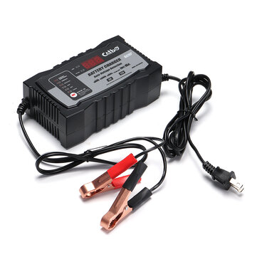 6/12V 2/6A Automatic Smart Lead Acid Battery Charger For Car Motorcycle US/EU Plug