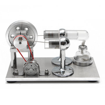 Hot Air Stirling Engine Model Electricity Power Generator Motor Kit Toy Gift