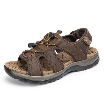 Men Casual Outdoor Leather Sandals