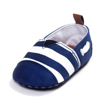 Baby Boy Girl Sailor Style Blue Soft Sole First Walking Shoes