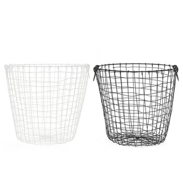35cm Trash Can Garbage Waste Metal Wire Basket Mesh Laundry Clothes Storage Bedroom Office