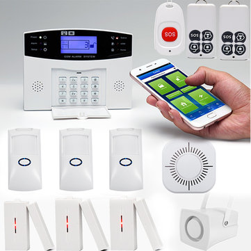 SMS GSM Wireless Home Burglar Alarm Security System Pet Immune PIR Sensor With Remote