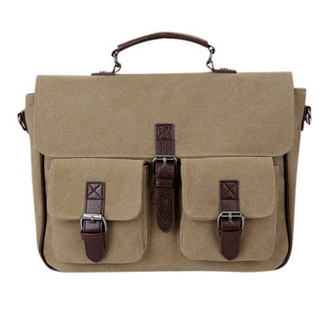 Men Retro Multifunctional Business Hang Bag Canvas Casual Messenger Backpack