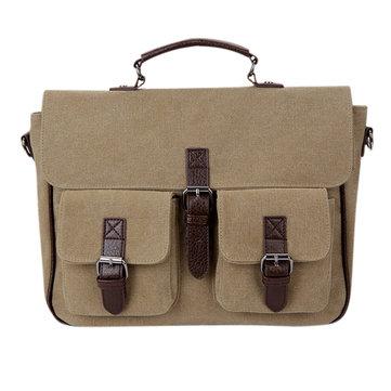 Мужчины ретро многофункциональный бизнес Hangbag холст случайный мессенджер рюкзак