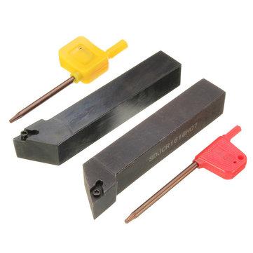 2pcs SDJCR/L 16x100mm Lathe Boring Bar Tunring Tool Holder for DCMT0702 Insert