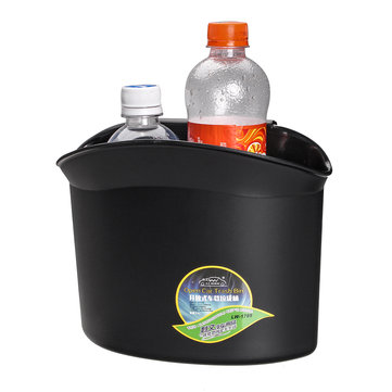 2L Hanging Car Garbage Cans Rubish Trash Bin Multifunction Storage Container Drink Bottle Holder