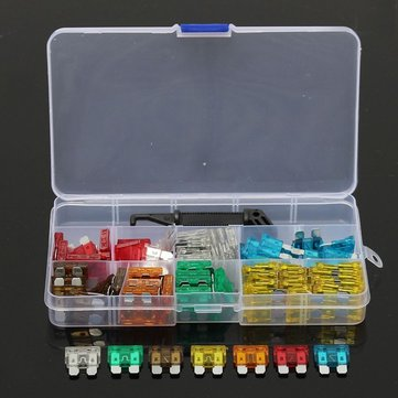 100pcs Assorted Auto Car Motorcycle Standard Blade Fuse 5A 7.5A 10A 15A 20A 25A 30A