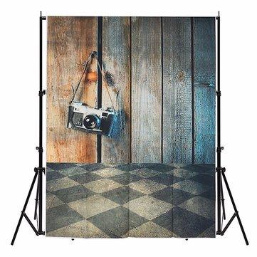 3x5ft Wood Floor Background Ancient Studio Photo Prop Vinyl Photography Backdrop