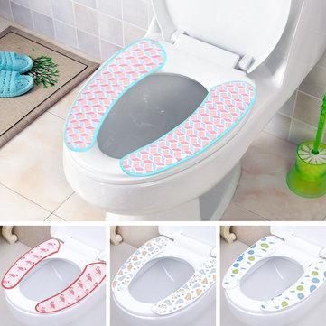 1 Pair Soft Pull Plush Bathroom Toilet Seat Cover Washable Closestool Mat