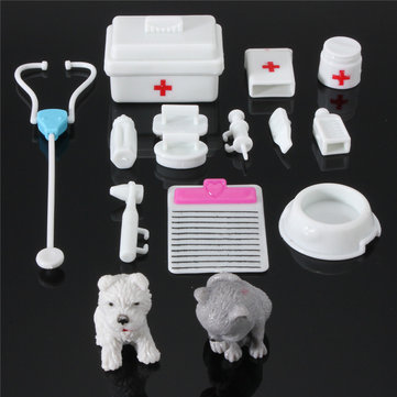 New 14PCS Mini Equipment Toys For Fashion Doll House Accessories