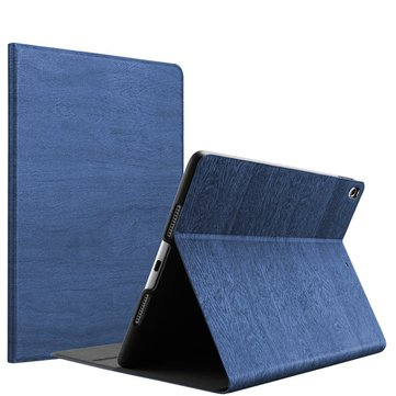 Wood Grain Pattern Smart Sleep Kickstand Case For iPad Pro 10.5