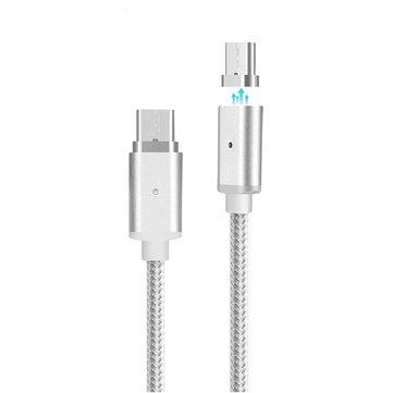 Bakeey™ Cavo USB Tipo-C 1M Magnetico Intrecciato in Nylon di Trasferimento Dati e Ricarica per Nexus Xiaomi Macbook Letv MEIZU