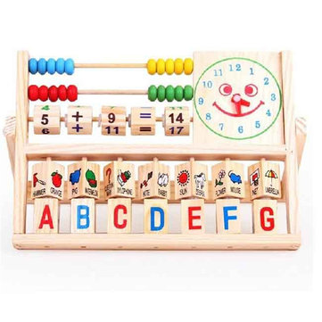 Bead Abacus Computing Frame Multifunctional Develoment Learning Educational Toy