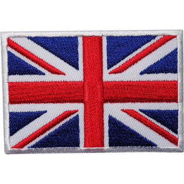 5pcs UK Flag Embroidery Non-woven Patch DIY Sewing Needlework Accessories