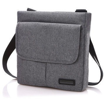 Men Women Polyester Leisure Travel Sports Crossbody Bag Vertical Shoulder Bag with 4 Colors