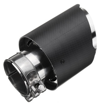63mm 2.5 Inch Universal Carbon Fiber Matte Car Exhaust Pipe Tail Muffler End