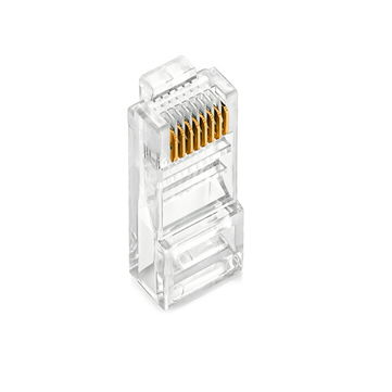 25x RJ45 RJ-45 CAT5 Gold Shielded Modular Plug Network Connector
