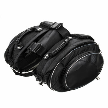 Universal Motorcycle Saddlebags Side Saddle Travel Bag Luggage Waterproof Rain Cover