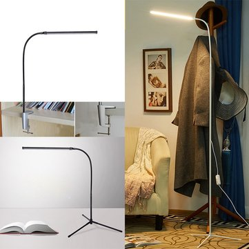 Modern 8W White & Warm White LED Floor Lamp Dimmer USB Desk Reading Light Fixture for Bedroom Decor