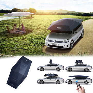 4.5M Folding Waterproof Auto Car Sun Shade UV Roof Cover Tent Umbrella Protection Remote Control