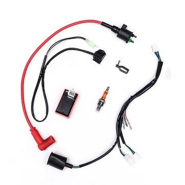 BIKIGHT 50-150cc Wiring Harness Kit Universal Motorcycle Cycling Bike Dirt Pit