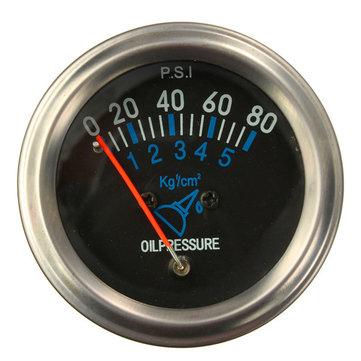 Pression 12v dc l'automobile électrique d'huile de carburant mécanique évaluer fg noir