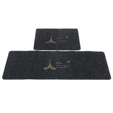 Modern Non-slip Door Floor Rug Mat Embroidered Iron Tower Kitchen Bathroom Carpet Home Decorations