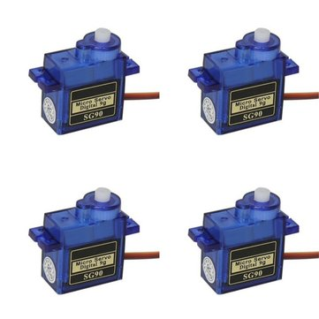 4X SG90 Mini Micro Digital Servo 9g For RC Models