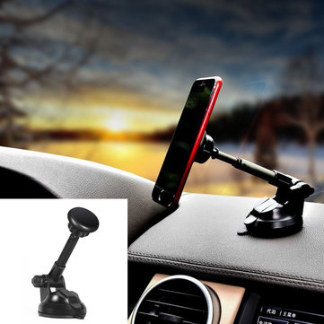 Magnetic Suction Cup Telescopic 360 Degree Rotation Car Phone Holder for iPhone Xiaomi Huawei