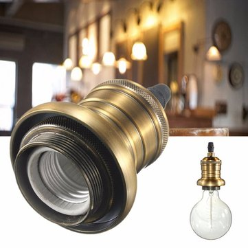 E27/E26 Light Holder Antique Retro Vintage Edison Copper Lamp Base Pendant Ceiling Light Socket
