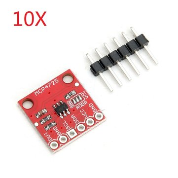 10Pcs CJMCU-MCP4725 I2C DAC Breakout Development Board Module