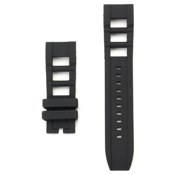26mm Replacement Rubber Black Watch Band Strap For Invicta S