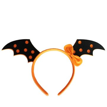 Pumpkin Witch Skull Devil Bat Wings Hair Band Halloween Costume Party Gothic Headbrand for Kid