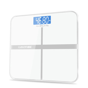 GASON A1 Electronic High Accuracy Digital Bathroom LCD Display Body Health Fit Weight Scale