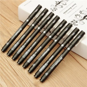 Black Drawing Pen Technical Art FineLine 0.05/0.1/0.2/0.3/0.4/0.5/0.7/0.8mm