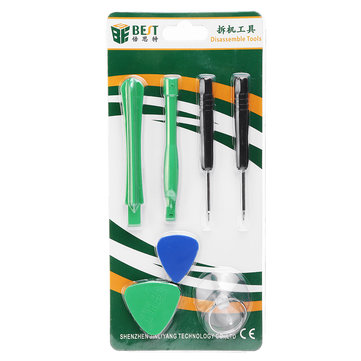 BEST BST-588 7 in 1 Opening Tools Repair Mobile Phone Disassemble Tools Kit For iPhone iPad