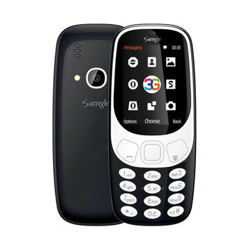 Samgle 3310 3G Network 1450mAh 2.4 inch 3D Screen bluetooth Dual Sim Card Dual Standby Feature Phone