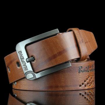 108CM Mens Retro Cowboy Belt Leisure Wild Hollow Belt