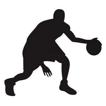 Basketball Man Black Vinyl Art DIY Decal Wall Sticker Home Wall Decal Removable Decoration